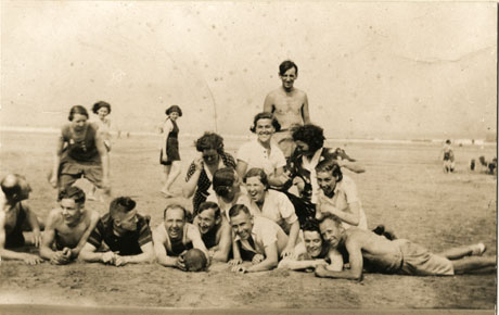 Hart, Now Crimdon Dene - A Group of Friends on the Sands