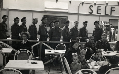 Soldiers at a Self Service Counter
