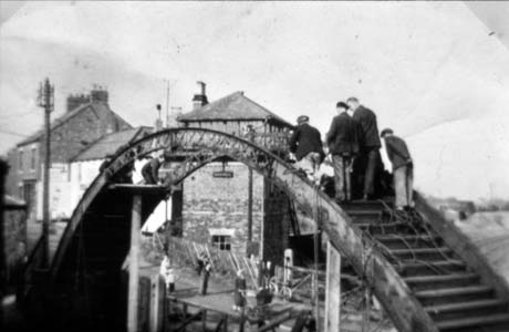 Demolition Of Footbridge. Haswell Station